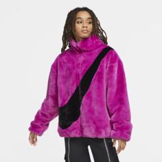 Женская куртка из синтетического меха Nike Sportswear - Пурпурный