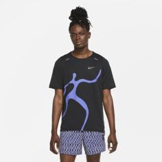 Мужская беговая футболка Nike Rise 365 A.I.R. Chaz Bear - Черный
