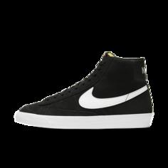 Кроссовки Nike Blazer Mid 77 Suede - Черный