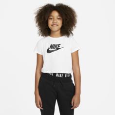 Укороченная футболка для девочек школьного возраста Nike Sportswear - Белый