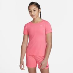 Футболка с коротким рукавом для девочек школьного возраста Nike Pro - Розовый
