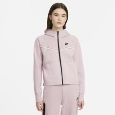 Женская худи с молнией во всю длину Nike Sportswear Tech Fleece Windrunner - Розовый
