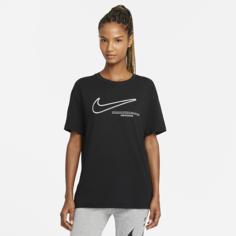 Женская футболка Nike Sportswear Swoosh - Черный