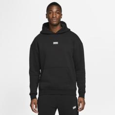 Мужская футбольная флисовая худи Nike F.C. - Черный