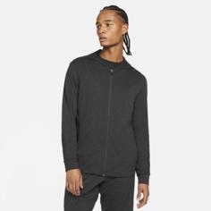 Мужская куртка с молнией во всю длину Nike Yoga Dri-FIT - Черный