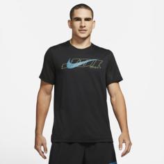 Мужская футболка с коротким рукавом для тренинга Nike Icon Clash - Черный