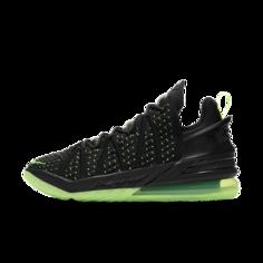 """Баскетбольные кроссовки LeBron 18 """"Black/Electric Green"""" - Черный Nike"""