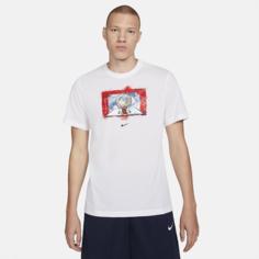 Мужская баскетбольная футболка Nike Dri-FIT Photo - Белый