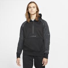 Мужская флисовая худи с молнией 1/2 Nike Sportswear Air Max - Черный