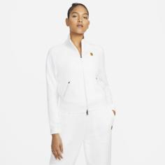 Женская теннисная куртка с молнией во всю длину NikeCourt - Белый