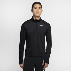 Мужская беговая футболка с молнией на половину длины Nike Pacer - Черный