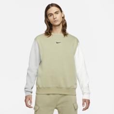 Мужской флисовый свитшот с логотипом Swoosh Nike Sportswear - Коричневый