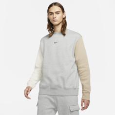 Мужской флисовый свитшот с логотипом Swoosh Nike Sportswear - Серый