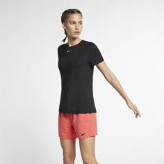 Женская футболка с коротким рукавом для тренинга Nike Pro - Черный