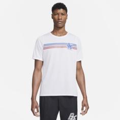 Мужская беговая футболка с коротким рукавом Nike Rise 365 BRS - Белый