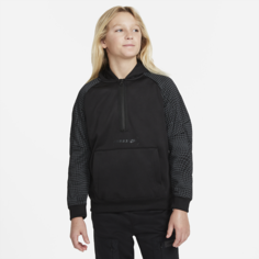 Флисовая худи с молнией на половину длины для мальчиков школьного возраста Nike Sportswear Air Max - Черный