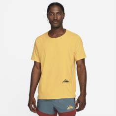 Футболка для трейлраннинга с коротким рукавом Nike Dri-FIT Rise 365 - Желтый