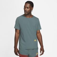 Футболка для трейлраннинга с коротким рукавом Nike Dri-FIT Rise 365 - Зеленый
