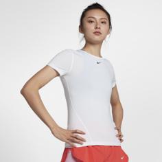Женская футболка с коротким рукавом для тренинга Nike Pro - Белый