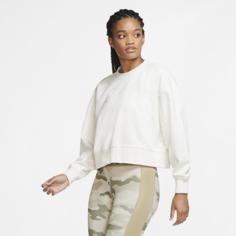 Женский свитшот с логотипом Swoosh для тренинга Nike Dri-FIT Get Fit - Белый