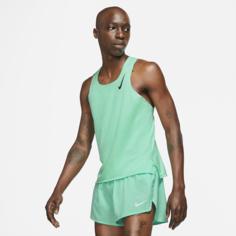 Мужская беговая майка Nike AeroSwift - Зеленый