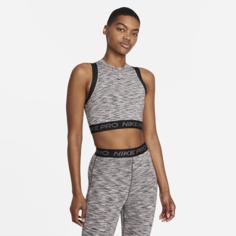 Женская майка с космическим принтом с эффектом тай-дай Nike Pro - Черный