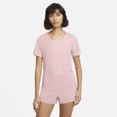 Женская беговая футболка с коротким рукавом Nike City Sleek - Розовый