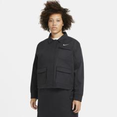 Женская куртка Nike Sportswear Swoosh (большие размеры) - Черный