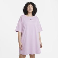 Платье Nike Sportswear Swoosh (большие размеры) - Пурпурный