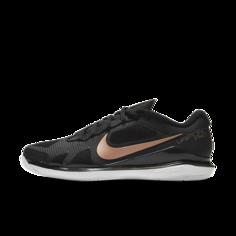 Женские теннисные кроссовки для игры на кортах с твердым покрытием NikeCourt Air Zoom Vapor Pro - Черный