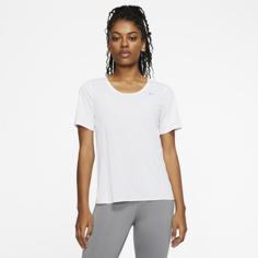 Женская беговая футболка с коротким рукавом Nike City Sleek - Белый