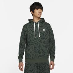 Мужская худи из трикотажа френч терри Nike Sportswear Club - Зеленый
