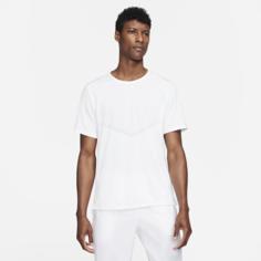 Мужская беговая футболка с коротким рукавом Nike Dri-FIT Rise 365 - Белый