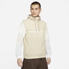 Мужская куртка из тканого материала с капюшоном и без подкладки Nike Sportswear - Коричневый