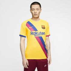Мужское футбольное джерси FC Barcelona 2019/20 Stadium Away - Желтый Nike