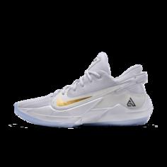 Баскетбольные кроссовки с индивидуальным дизайном Zoom Freak 2 By You - Белый Nike