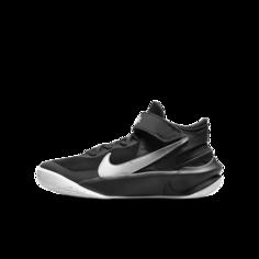 Баскетбольные кроссовки для школьников Nike Team Hustle D 10 FlyEase - Черный