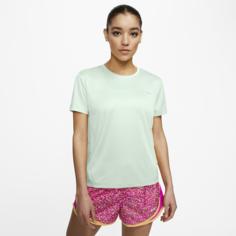 Женская беговая футболка с коротким рукавом Nike Miler - Зеленый