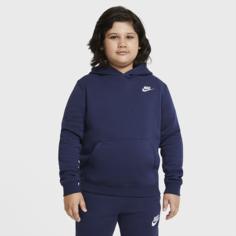 Худи для мальчиков школьного возраста Nike Sportswear Club Fleece (расширенный размерный ряд) - Синий