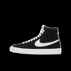 Кроссовки для школьников Nike Blazer Mid 77 Suede - Черный