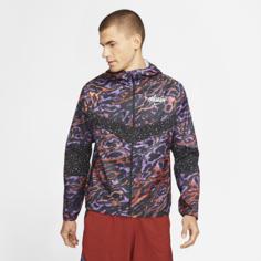 Мужская беговая куртка Nike Windrunner Wild Run - Пурпурный