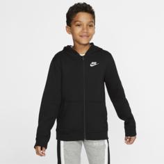 Худи с молнией во всю длину для школьников Nike Sportswear Club - Черный