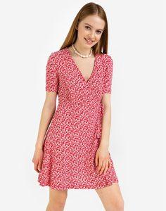 Красное платье мини с запáхом Gloria Jeans