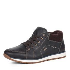 Ботинки Коричневые ботинки из комбинированных материалов Rieker