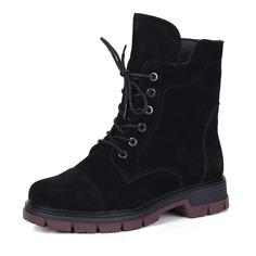 Ботинки Черные ботинки из велюра на шнуровке Rieker