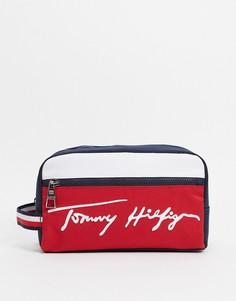 Красный несессер с логотипом Tommy Hilfiger-Многоцветный