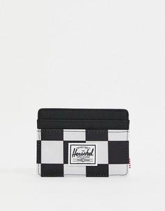 Бумажник с принтом шахматной доски Herschel Supply Co Charlie-Черный цвет