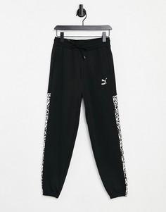 Черные спортивные штаны PUMA Classics T7-Черный цвет