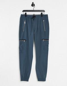 Синевато-серые брюки карго River Island-Серый