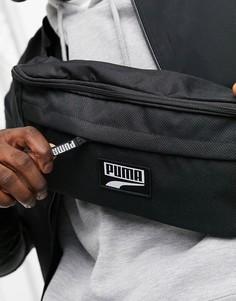 Черная большая сумка на пояс PUMA-Черный